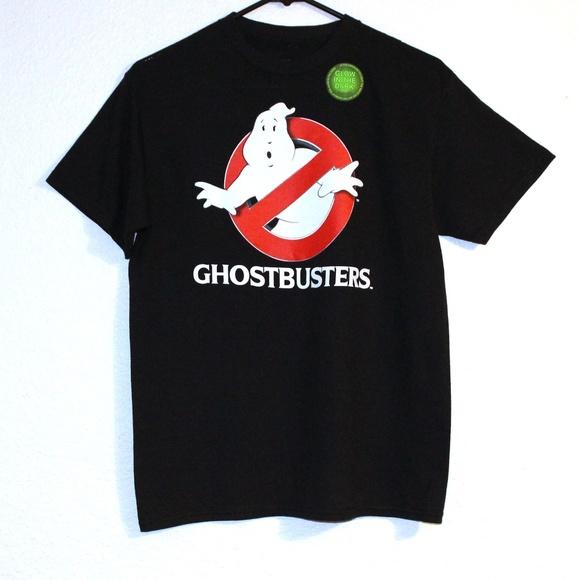 Ghostbusters Glow in the Dark Logo Boys Black T-Shirt Sizes L /& XL NEW